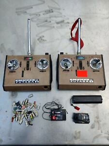 Futaba M 4 & 6 FM RC model transmitters for boats etc & loads of 27mhz crystals!