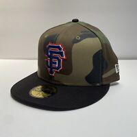San Francisco Giants MLB New Era 59FIFTY Size 7 3/8 Camo Rare Baseball Hat New