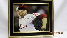 ROY HALLADAY Signed Framed 8x10 Photo #2 Display with COA, Philadelphia Phillies