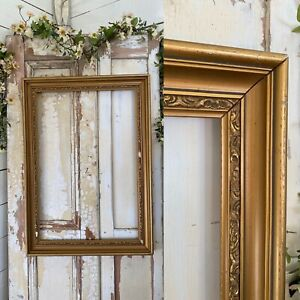 """GORGEOUS Old Decorative ORNATE Gold Wood Painting Frame fit Picture 35"""" x 29"""""""