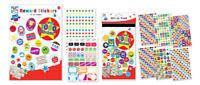 Kids Create Reward Sticker Pad 10 A4 Sheets, Over 1000 bright colourful stickers