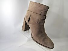 CHRISTIAN DIOR Urbaine Size 40/10 Beige Suede Buckle Ankle Boots Shoes For Women
