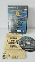SOCOM II U.S. Navy SEALs Sony PlayStation 2 PS2 Complete CIB VERY Fast Ship!