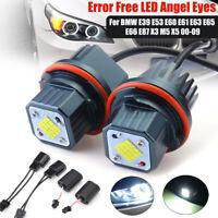 Paire 80W LED Angel Eyes Phare Sans erreur pour BMW E39 E53 E60 E61 E63 E65