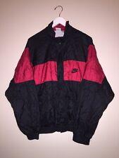 VTG 90s Nike Gray Label Colorblock Nylon Windbreaker Jacket Mens Large Black Red
