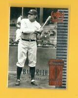 0694   1999 Upper Deck Century Legends #1 Babe Ruth PROMO SAMPLE YANKEES CARD