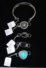 Lia Sophia CHANGE IT UP Bracelet set w/ interchangeable bracelet clips Silver