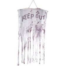 Keep Out Décoration Tenture Faux Sang Décoration de Fête Halloween 90x150cm