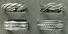 weave and striped *Strong Sturdy* .925 silver Solid Silver Toe Ring, 4 designs -