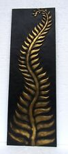 Unusual Large Gold Fern Wall Plaques Contemporary Giant Gold Wall Plaque 90cm