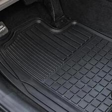 Heavy Duty Trim-Fit Rubber Car Floor Mats Grid Trapping Design Semi-Custom 2pc