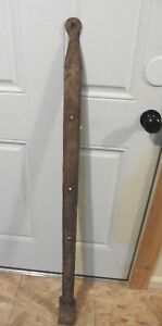 1 XL Wrought iron hinge strap barn door decor Vintage Antique hand wrought 48.5""
