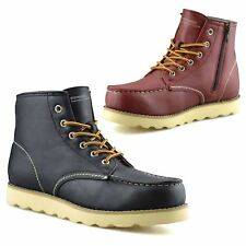 Mens New Casual Zip Up Walking Hiking Trail Work Trainers Ankle Boots Shoes Size