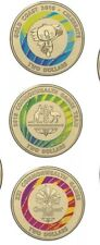 💥2018 COMMONWEALTH Coins 3x Coin Set $2 Dollar Uncirculated Colour Coins New 💵