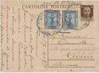 1941 LIBIA  25CX2 PITTORICA SU INTERO POSTALE X ANCONA