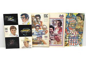 4 pc 1972 1973 1975 USAC United States Auto Club Program + Magazines Racing News