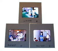 Vintage 35mm Photo Transparency Slides - Family Get Together 1970 | Lot of 3