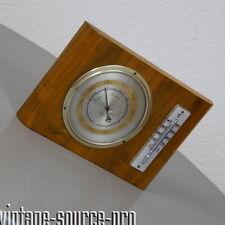 alte Forster Nussbaum Wetterstation Thermometer Barometer mid Century 50er Jahre