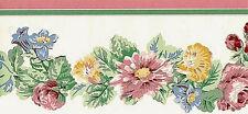 Waverly Garden Pink Floral Victorian Wallpaper Border