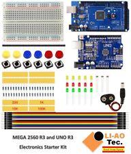 Starter Kit Mega 2560 Uno R3 Mini Breadboard Led Jumper Wire Button For Arduino