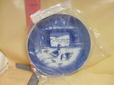 Royal Copenhagen Christmas Plate - 1969 , In The Old Farmyard - New With Card