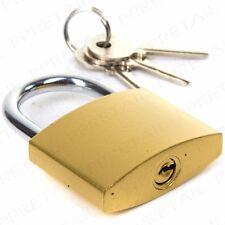 HEAVY DUTY SOLID 50mm BRASS PADLOCK + 3 Keys Alike Shed Door Gate Secure Lock