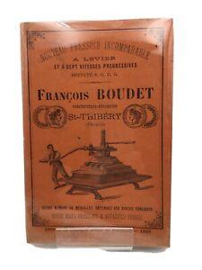 Boudet, constructeur-Mécanicien à Saint-Thibery (Hérault) Nouveau Pressoir 1896