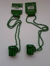 Imagin8 St. Patrick's day Green Mug Necklaces. Lot of 2.