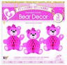 It�S A Girl Honeycomb Bear Pink Baby Shower Hanging Decoration