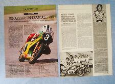 LAMOTO981-RITAGLIO/CLIPPING/NEWS-1981-LAMOTOSPORT MINARELLI TEAM - 2 fogli