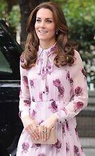 NWT Kate Spade Encore Rose Tie Neck Silk Pleated Chiffon Dress 4