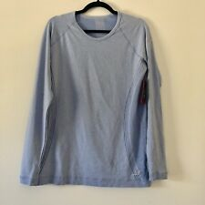 BCG Womens Long Sleeve Running Shirt Size L Blue