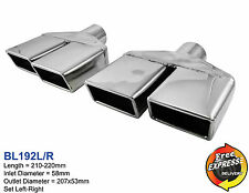 Exhaust tips tailpipe trims rectangular set tips for Vauxhall Opel Chevrolet