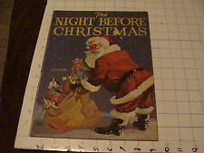 THE NIGHT BEFORE CHRISTMAS linen like, Keith Ward illustrations, 1935