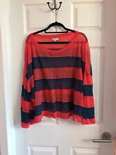 Opening Ceremony Striped Crop Thin Sweater Top L Authentic Women's Top Red
