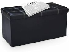 Faltbarer Sitzhocker Lagerhocker Aufbewahrungshocker Fußhocker Sitzbank mit Deck