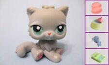 Littlest Pet Shop LPS #82 Gray Persian Cat +1 FREE Accessory 100% Authentic