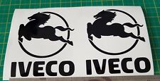 IVECO HORSE LOGO DECAL/STICKER X2 HAULAGE COURIER TRUCK LORRY STRALIS DAILY