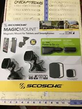Scosche black magic mount magnetic universal phone TABLET mount + POWER TO GO