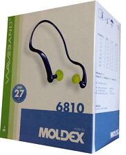 BOX OF MOLDEX 6810 WAVEBAND 1K BANDED EARPLUGS - EAR DEFENDER 27db - 8 pieces