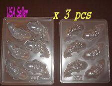3 pcs set - 6 Small Koi Fish Jello Steam Pudding Dessert Plastic Mold