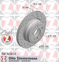 ZIMMERMANN 150.3450.52 REAR BRAKE DISCS PAIR (COAT Z)