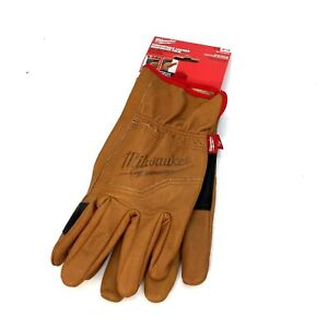 Milwaukee 48-73-0012 Large Goatskin Leather Gloves | Smartswipe Technology
