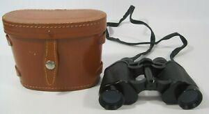 Regent 8 X 30 Coated Optics Binoculars Empire Made in Brown Storage Case