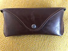 Brown Leather Ralph lauren Glasses Case