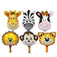 6PCS Fashion Birthday Baby Shower Kids Toys Foil Balloon Animal Head Inflatable