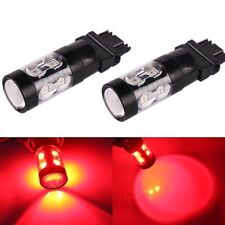 JDM ASTAR 2x 50W 3157 3156 Red LED Turn Signal Brake Tail High/Stop Lights Bulbs