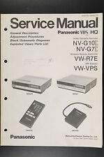 Panasonic nv-g10/ G7/ vw-r7e/ VPS ORIGINAL MANUAL DE SERVICIO / ESQUEMA