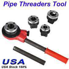 New Pipe Threader With 4 Stock Dies 1/2, 3/4, 1, 1, 1-1/4 inch Ratchet Handle Us