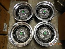 VINTAGE SET 15x7 40 SPOKE CYCLONE TURBINE MAG WHEELS GM CAR/TRUCK MAGS GALAXIE